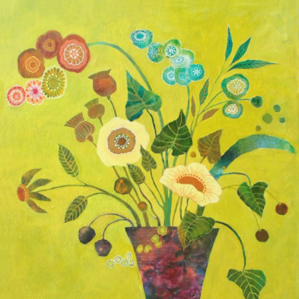 Yellow Flowers - Acrylic on Canvas