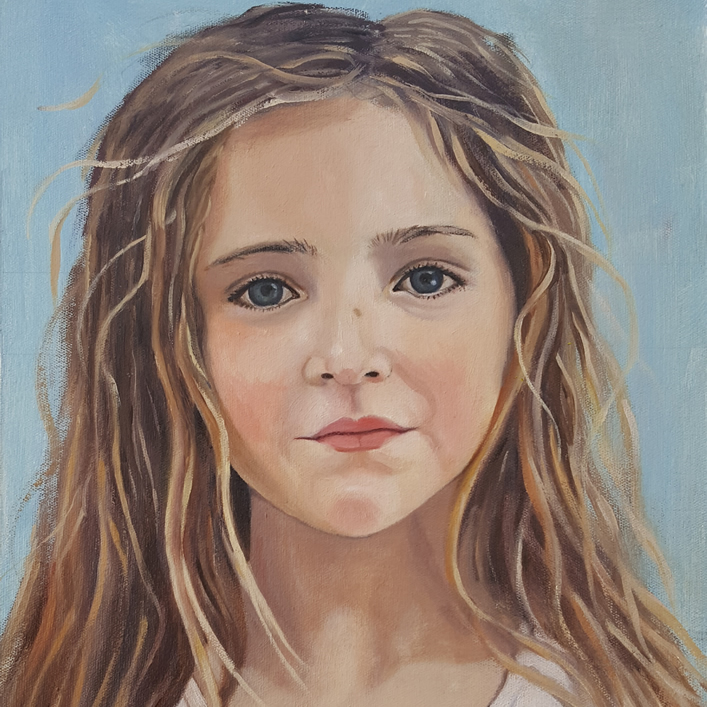 Portrait of Julia - Oil-painting-on-canvas